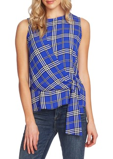 Vince Camuto Highland Plaid Faux Wrap Top