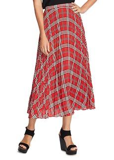 VINCE CAMUTO Highland Plaid Pleated Midi Skirt - 100% Exclusive