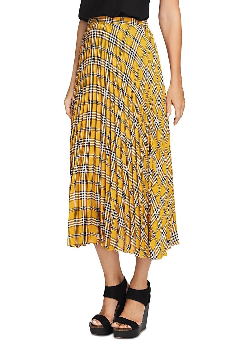 VINCE CAMUTO Highland Plaid Pleated Skirt