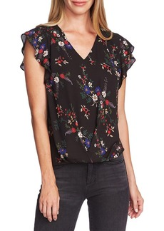 Vince Camuto Highland Printed Wrap Blouse
