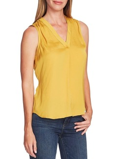 Vince Camuto Highland V-Neck Rumple Blouse