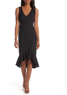 Vince Camuto High/Low Flounce Hem Cocktail Dress