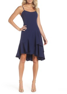 Vince Camuto High/Low Ruffle Hem Dress