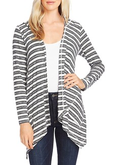 VINCE CAMUTO Hooded Asymmetric Open-Front Cardigan