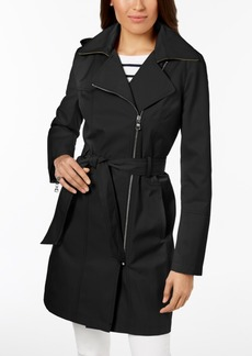 Vince Camuto Hooded Asymmetrical Trench Coat