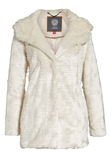 Vince Camuto Hooded Faux Fur Coat