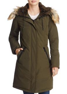 VINCE CAMUTO Hooded Faux Fur Trim Parka