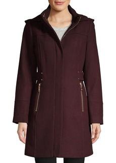 Vince Camuto Hooded Wool-Blend Coat