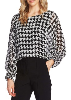 Vince Camuto Houndstooth Blouse