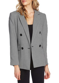 Vince Camuto Houndstooth Double Breasted Jacket