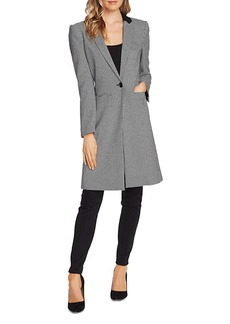 VINCE CAMUTO Houndstooth Notch-Collar Coat
