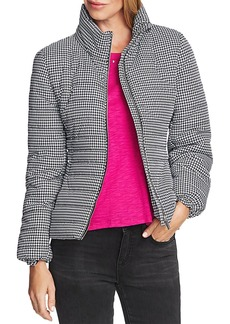 VINCE CAMUTO Houndstooth Puffer Jacket