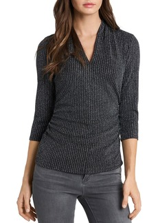 VINCE CAMUTO Houndstooth Sparkle Top