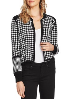 VINCE CAMUTO Houndstooth Sweater Jacket