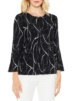 Vince Camuto Ink Swirl Bell Sleeve Top