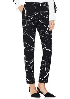 Vince Camuto Ink Swirl Print Ankle Pants