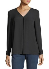 Vince Camuto Inverted-Pleat Crepe Blouse