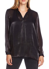 Vince Camuto Iridescent Georgette Henley Blouse