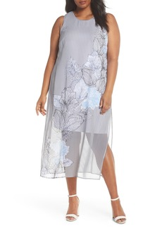 Vince Camuto Island Floral Chiffon Maxi Dress (Plus Size)