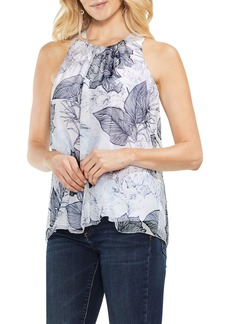 Vince Camuto Island Floral Sleeveless Chiffon Top