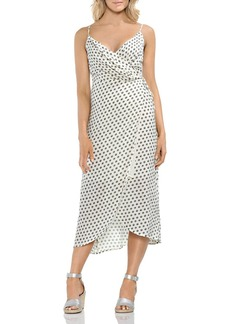 VINCE CAMUTO Island Imprints Midi Wrap Dress