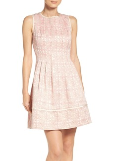 Vince Camuto Jacquard Fit & Flare Dress