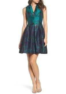 Vince Camuto Jacquard Fit & Flare Dress (Regular & Petite)