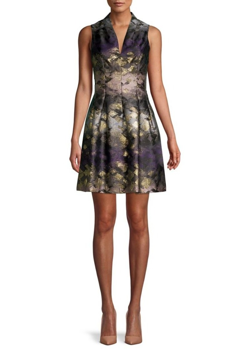 Vince Camuto Jacquard Fit-&-Flare Dress
