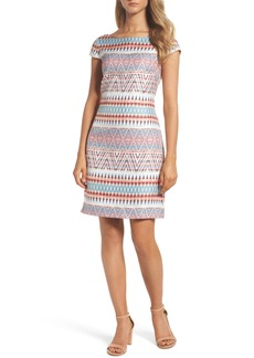 Vince Camuto Jacquard Sheath Dress (Regular & Petite)