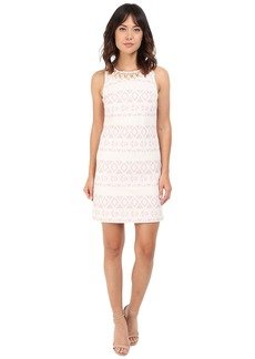 Vince Camuto Jacquard Sleeveless Shift Dress