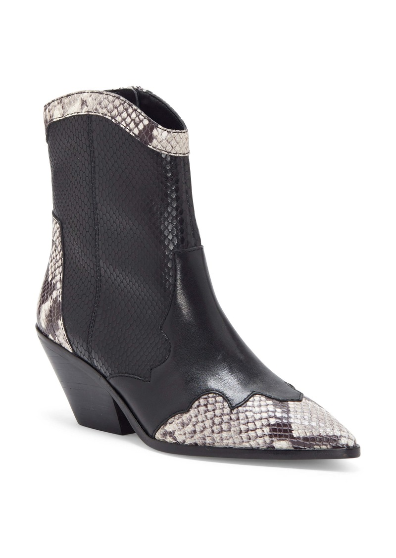 Vince Camuto Jaidin Snake Embossed Western Boot (Women)