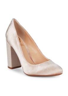 Janetta Velvet Block Heels
