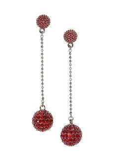 Vince Camuto Jewel Encrusted Pavé Ruby Crystal Disco Ball Drop Earrings