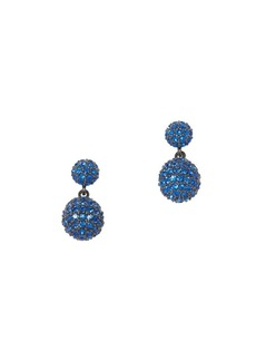 Vince Camuto Jewel Encrusted Sapphire Crystal Double Drop Earrings
