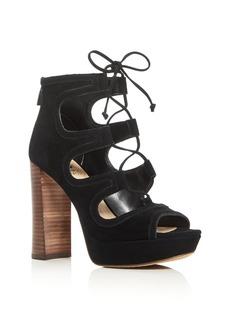 VINCE CAMUTO Kamaye Lace Up High Heel Platform Sandals