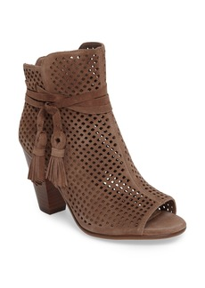 Vince Camuto Kamey Perforated Open Toe Bootie (Women)