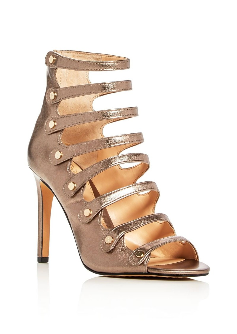 VINCE CAMUTO Kanastas Metallic Caged High Heel Sandals