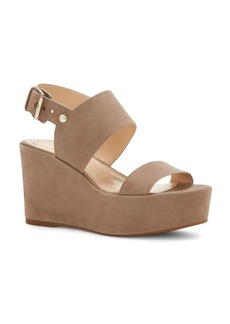 Vince Camuto Karlan Nubuck Leather Platform Wedge Sandals