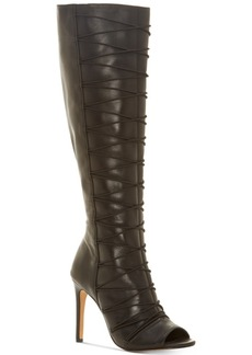 Vince Camuto Kentra Peep-Toe Over-the-Knee Dress Boots Women's Shoes
