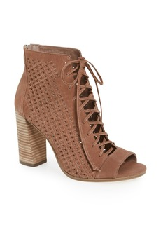Vince Camuto Kevina Lace-Up Open Toe Bootie (Women)