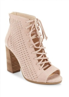 Vince Camuto Kevina Perforated Lace-Up Booties
