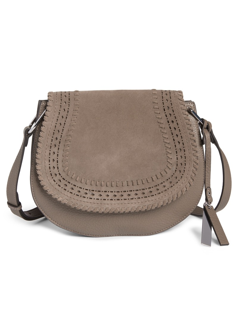 f7cc262f9e25 Vince Camuto Kirie Suede   Leather Crossbody Saddle Bag (Nordstrom  Exclusive)