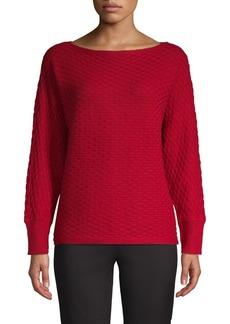 Vince Camuto Knit Cotton-Blend Sweater