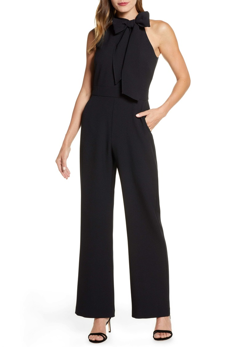 Vince Camuto Kors Bow Neck Stretch Crepe Jumpsuit