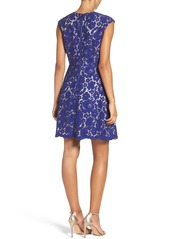 Vince Camuto Lace A-Line Dress (Regular & Petite)