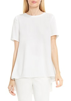 Vince Camuto Lace Back High/Low Blouse