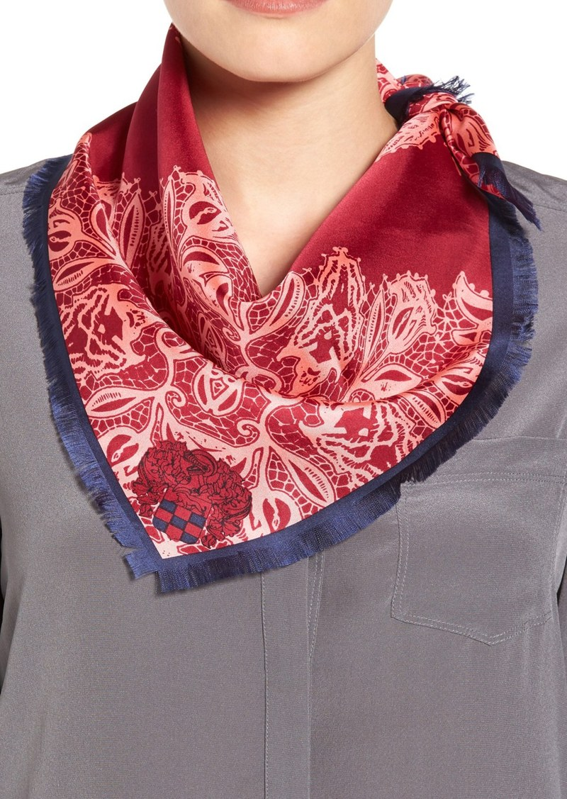 Vince Camuto Lace Crossing Silk Scarf