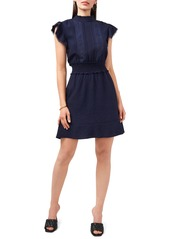 Vince Camuto Lace Detail Smocked Waist Dress