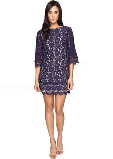 Vince Camuto Lace Elbow Sleeve Shift Dress