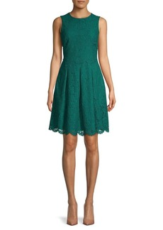 Vince Camuto Lace Fit-&-Flare Dress